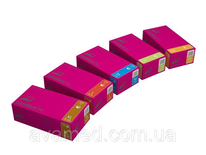 Перчатки Comfort PF латексные неопудренные текстурированные