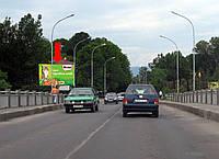 Щит г. Ужгород, Шумная ул., транспортный мост, в центр, к вокзалу