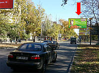 Щит г. Херсон, 40-летия Октября ул. / ул. Тираспольская, возле парка им. Ленинского Комсомола, гусь, над дорогой, из центра