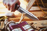Нож охотничий (рукоять-наборная кожа)