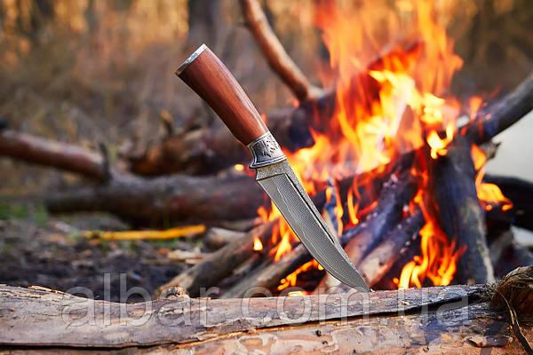Нож охотничий (Дамаск)
