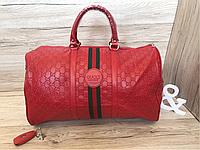 Сумка дорожная споривная Gucci  (реплика) red