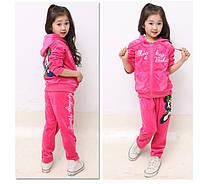 """Детский велюровый костюм """"Минни Маус"""", розовый"""