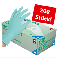 Перчатки нитриловые без пудры AMPri Mint Basic Plus,3,7г, 200 шт