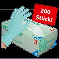 Перчатки нитриловые без пудры AMPri Mint Basic Plus,3,7г, 200 шт, фото 1