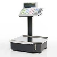 Весы с печатью этикетки «Штрих-ПРИНТ» 4.5 с клавиатурой на стойке