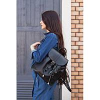 Кожаный рюкзак Олсен оникс, фото 1