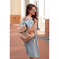 Кожаный рюкзак Олсен крем-брюле, фото 1