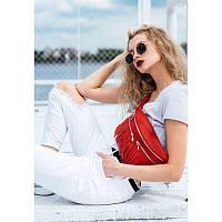Кожаная женская сумка на пояс Spirit красная, фото 1