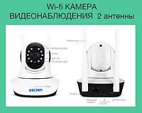 Wi-fi КАМЕРА ВИДЕОНАБЛЮДЕНИЯ  2 антенны