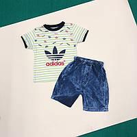 Футболка и шорты на мальчика. 74,80