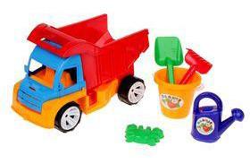Машинка пластмассовая Алексбамс (AlikPN) с песочным набором
