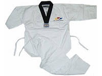 Кимоно теквондо (добок-рубашка) белое WTF CO 012 (х-б,р-р 110-180 см)  36-38 /140 см.