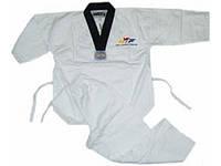 Кимоно теквондо (добок-рубашка) белое WTF CO 012 (х-б,р-р 110-180 см)  44-46 / 160 см.
