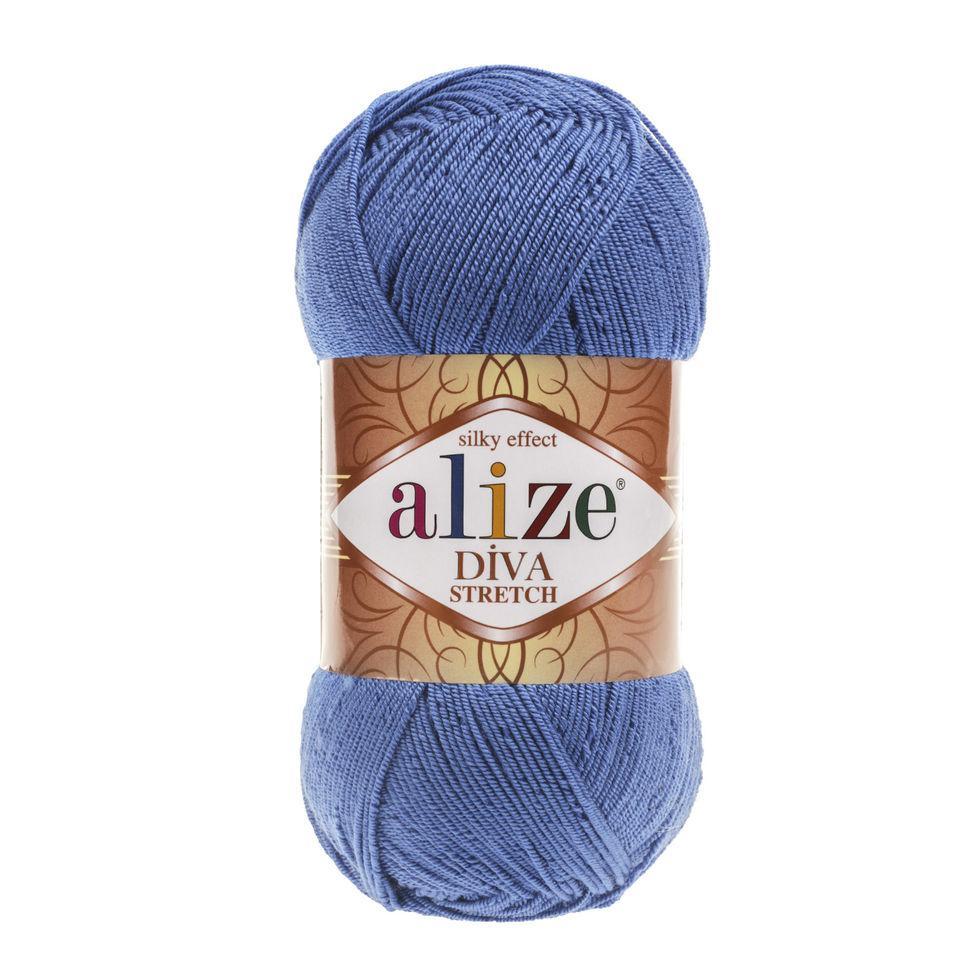 Пряжа микрофибра Diva stretch Дива стрейч Ализе, №353, синий