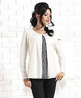 Женская блуза цвета экри из вискозы. Модель Toluca Top-Bis, коллекция осень-зима 2014-2015