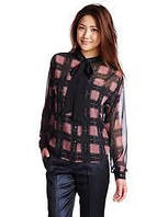 Блузка женская DIESEL цвет черно-розовый размер S арт 00SJBA0PAIO
