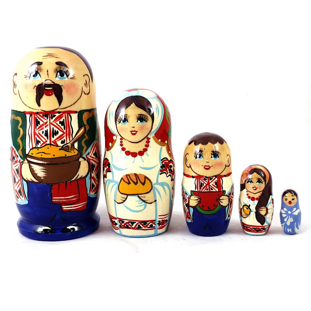 Матрёшка 5-х мальчик украинец 12.5 см Гранд Презент М-18