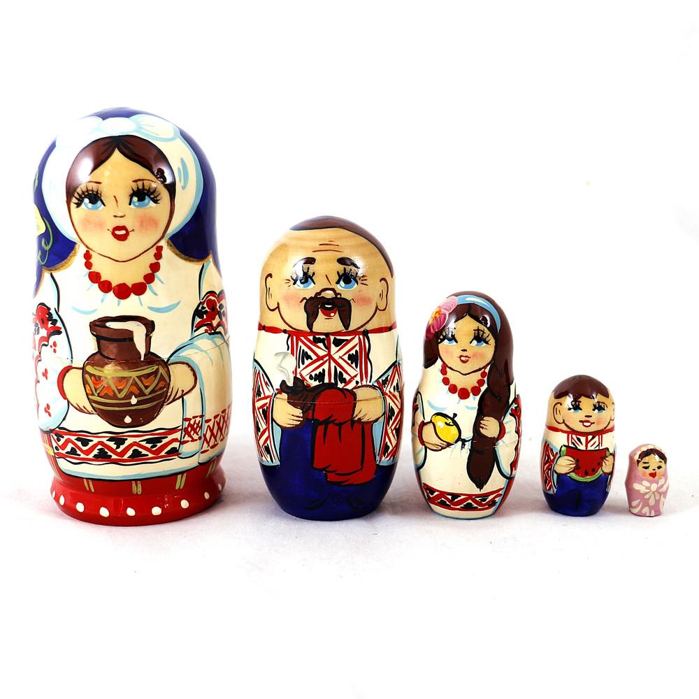 Матрёшка 5-х девочка украинка 12.5 см Гранд Презент М-17