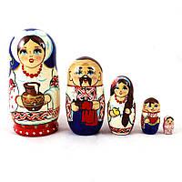 Матрёшка 5-х девочка украинка 12.5 см Гранд Презент М-17, фото 1