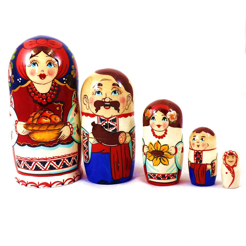 Матрёшка 5-х девочка украинка 14 см Гранд Презент М-20