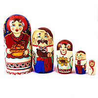 Матрёшка 5-х девочка украинка 14 см Гранд Презент М-20, фото 1