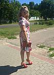 Платье хлопок сатин джинс лето Пл 035-7 , роза-питон  , фото 3