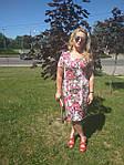 Платье хлопок сатин джинс лето Пл 035-7 , роза-питон  , фото 4