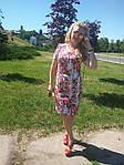 Платье хлопок сатин джинс лето Пл 035-7 , роза-питон  , фото 5