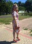 Платье хлопок сатин джинс лето Пл 035-7 , роза-питон  , фото 6
