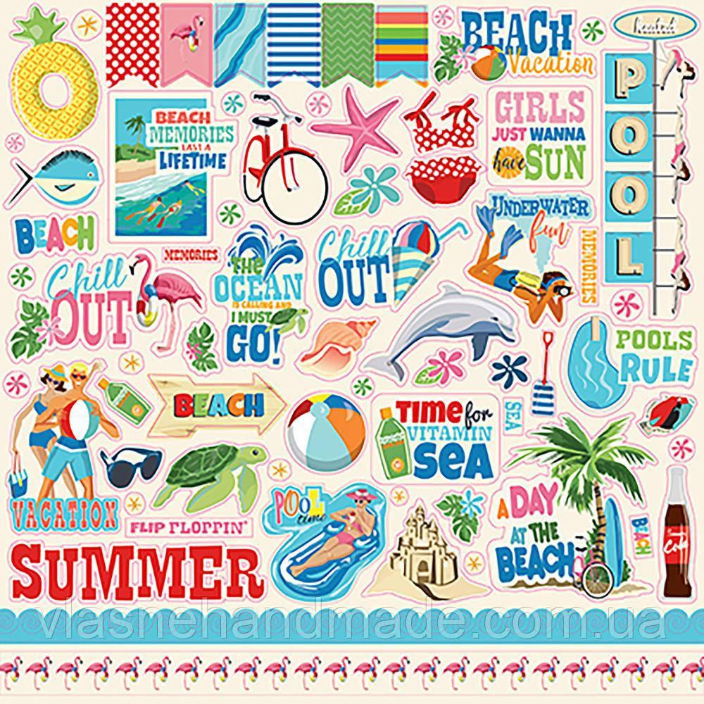 Наклейки - Summer Splash - Carta Bella - 30x30