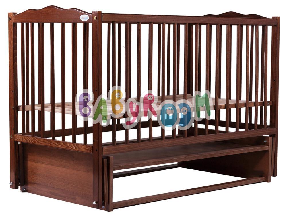 Кровать Babyroom Веселка маятник DVM-1  бук орех