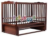 Кровать Babyroom Веселка маятник DVM-1  бук орех, фото 1