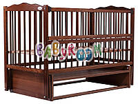 Кровать Babyroom Веселка маятник, откидной бок DVMO-2  бук орех, фото 1