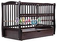 Кровать Babyroom Еліт маятник, ящик, откидной бок DEMYO-5  бук венге, фото 1