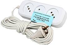 Подовжувач електричний EMP 6А (5 МЕТРІВ) електро переноска