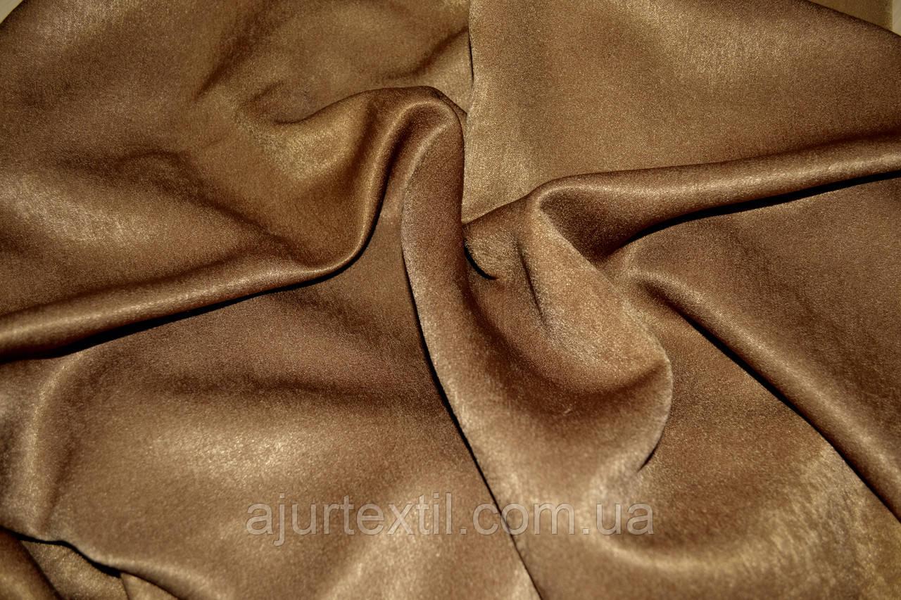Штора велюр -софт коричневый