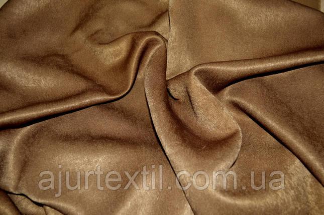 Штора велюр -софт коричневый, фото 2