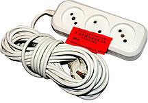 Подовжувач електричний EMP 6А (10 МЕТРІВ) електро переноска