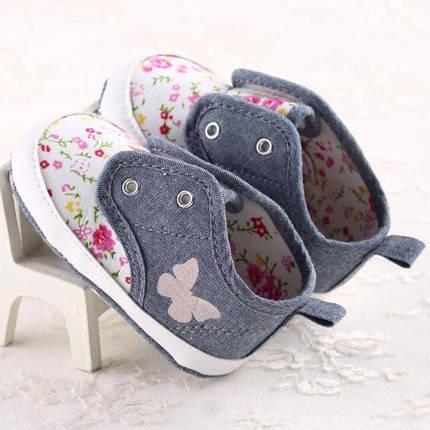 Детские кеды - пинетки для девочек, фото 2