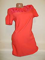 """Платье красное с гипюром серия """"Mix"""" 1RS-1771, фото 1"""