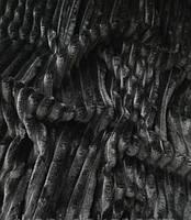 Плюшевый чехол на кушетку 80 см на 200 см - черный (шарпей)