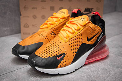 Кроссовки мужские в стиле Nike Air Max 270, оранжевые (13425),  [  41 42 43 44 45  ]