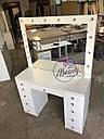 Стол для визажиста, гримерный столик, зеркало с подсветкой, белый, фото 6