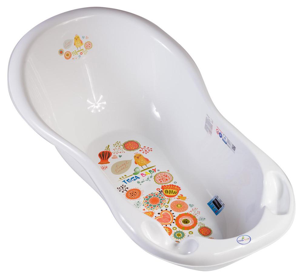 Ванночка Tega Folk FL-  со сливом, термометром  белый