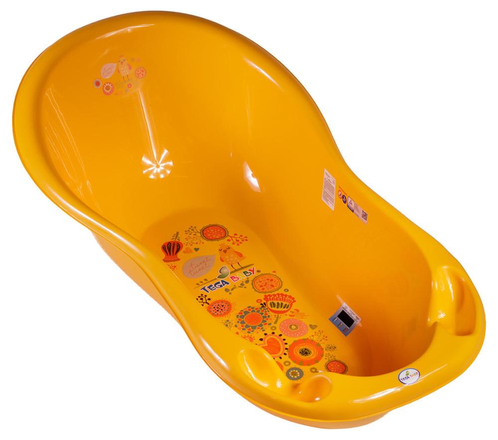 Ванночка Tega Folk FL-  со сливом, термометром  желтый