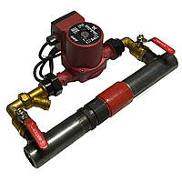 Байпас с насосом для систем отопления и циркуляционного насоса (Короткий с обратным  клапаном) Ду 50