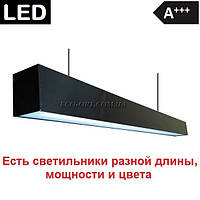 Черный подвесной светильник светодиодный в стиле лофт 55 Вт 8928 Лм 60х70х1000
