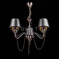 Люстра на цепи на 3 лампочки с абажурами P3-1710A/3P/AB+WT