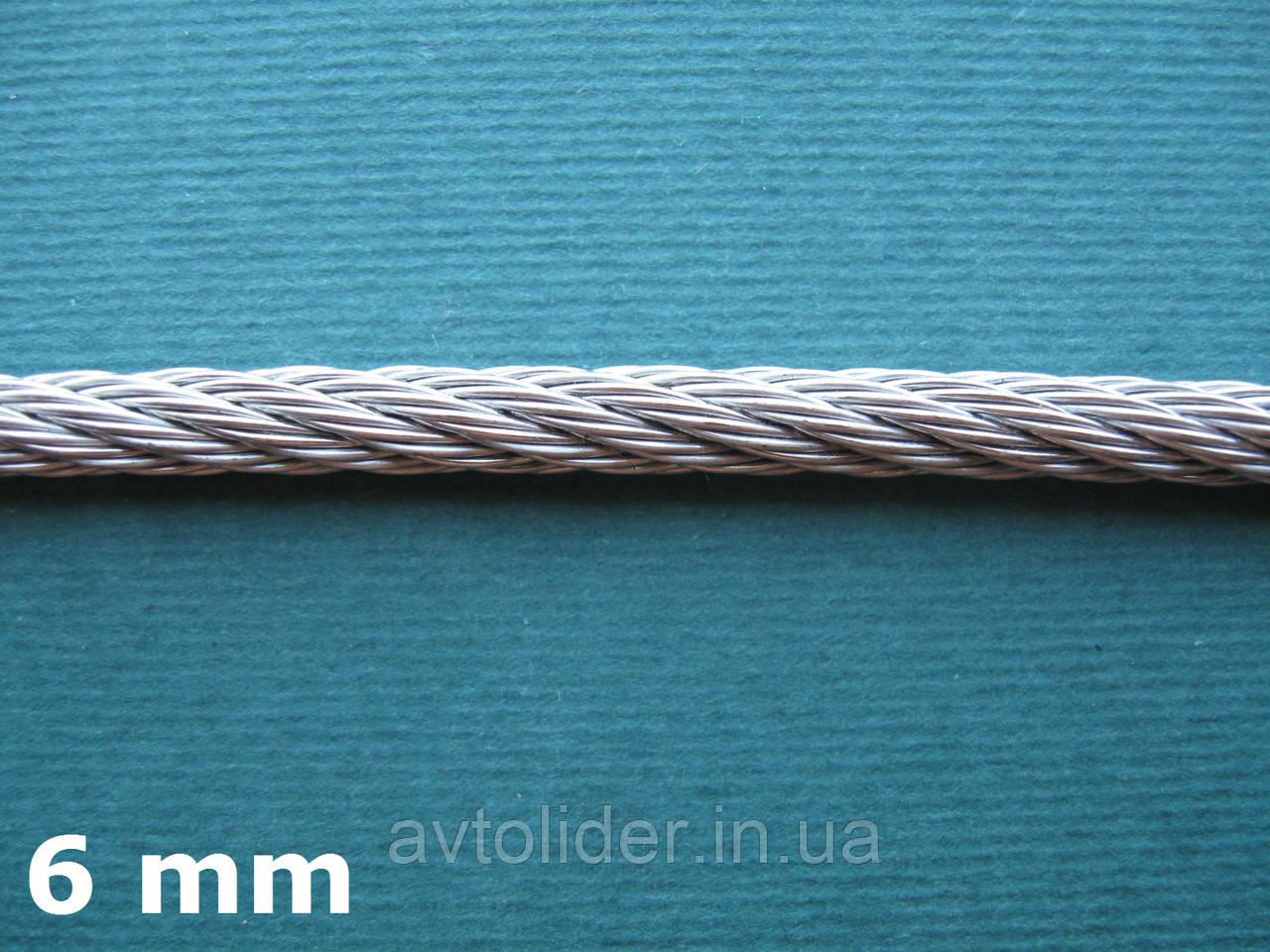 Нержавеющий трос А4, плетение 7х7, диаметр 6 мм